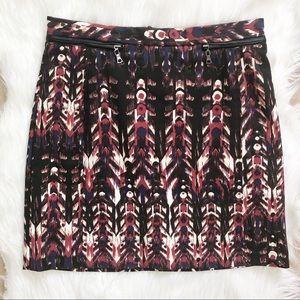 H&M abstract tribal mini skirt